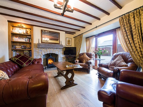 Guest lounge at Merman Barn